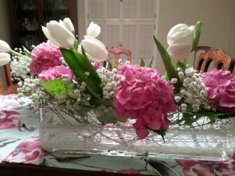 upclose long vase at home