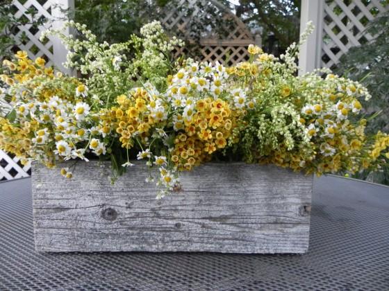 Wildflowers in Barnwood Planter