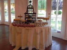birdcage dessert table