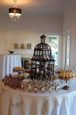 bird cage dessert table